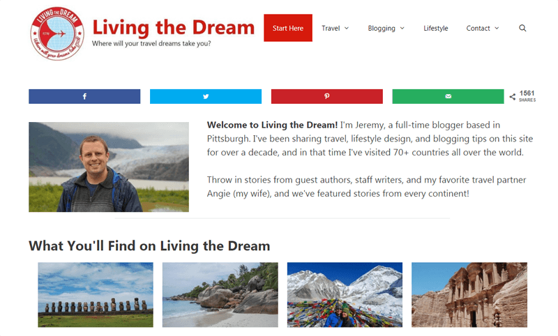 living the dream blog