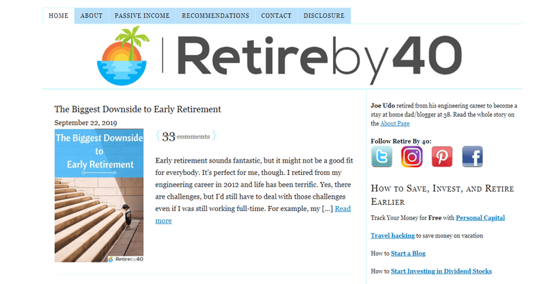 retire by 40 blog