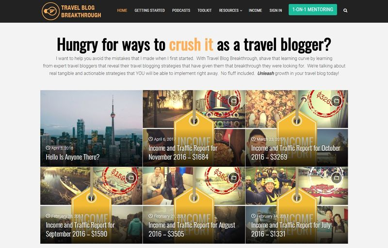 travel blog breakthrough blog