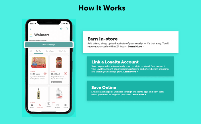 how ibotta shopping coupon app works