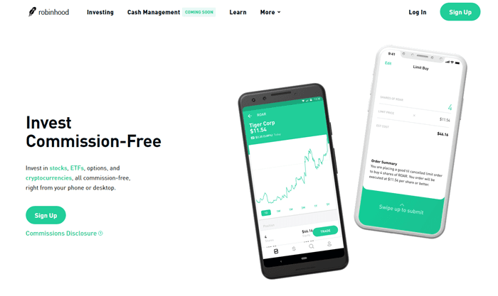 robinhood free stock