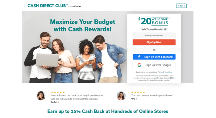 cash direct club website