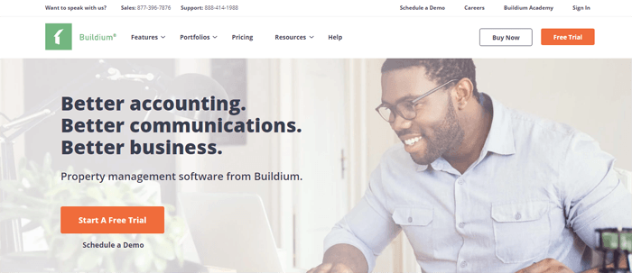 buildium homepage review