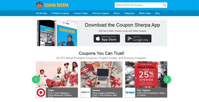 coupon sherpa app